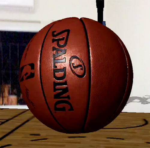 Spalding basketball in augmented reality