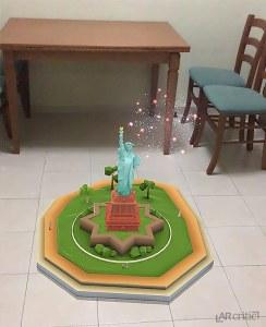 Statue of Liberty puzzle finish screenshot, PuzzlAR