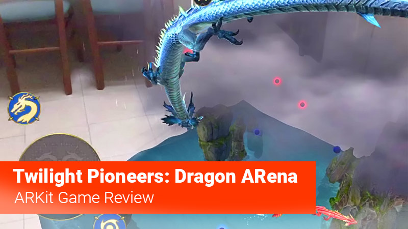 Dragon flying in an augmented reality game