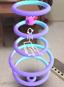 Squishy Hoops iOS AR game screenshot