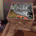 Wooden cube, 57° North for Merge Cube