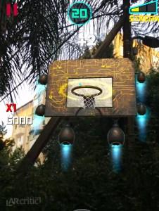 AR Dunk iOS game screenshot outdoors