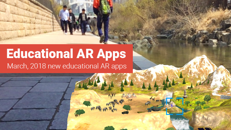 Educational augmented reality apps