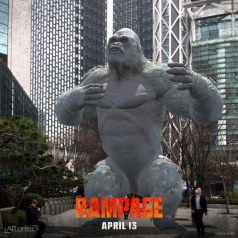 Rampage George the Gorilla beating his chest in Seoul