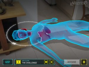 Forensic detective AR game screenshot