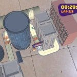 Playing Room Racer AR in bird's eye view