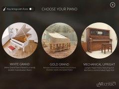 Choose between 3 different pianos