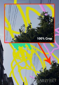 100% crop showing occlusion in Blue Sky Paint app