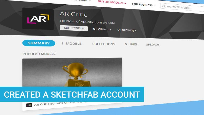 Created sketchfab account
