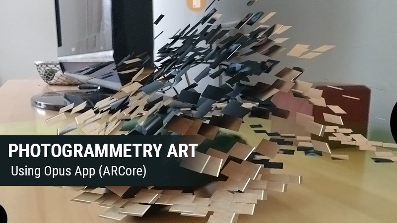 Opus App Review - Photogrammetry Mosaic-style AR Digital Art