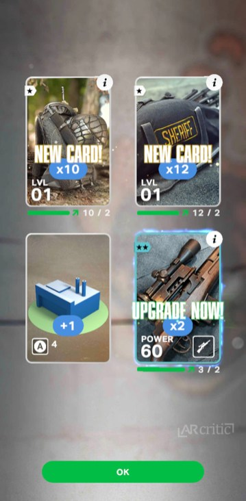 Receiving new cards