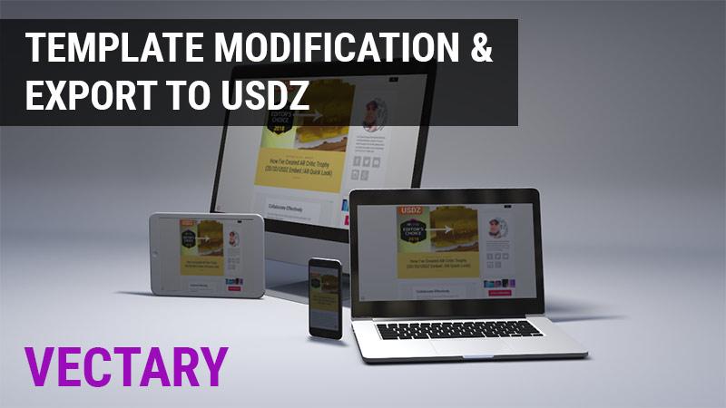 Vectary templates, USDZ export