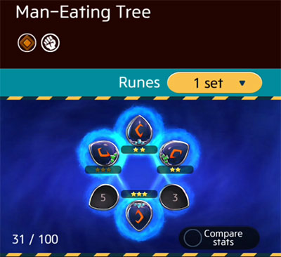 Man-Eating Tree Runes