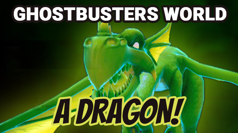 Green, dragon, Ghostbusters World