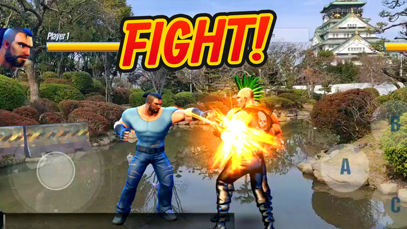 AR fighting game