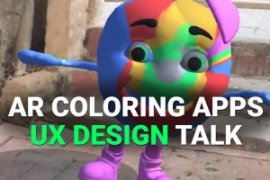 AR UX Design: Two Coloring Apps – Which design approach is better?