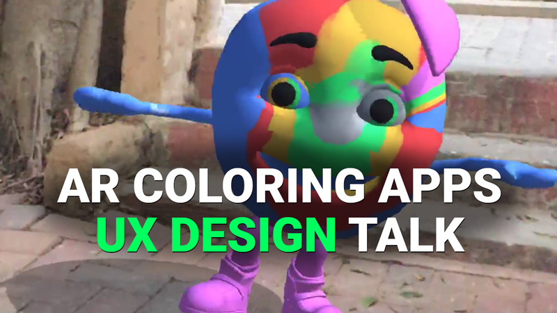 UX design, AR coloring apps