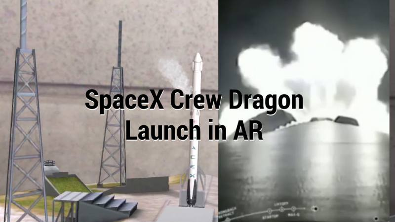Falcon 9 carrying SpaceX Dragon capsule