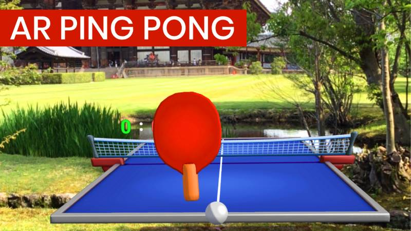 AR Ping Pong Game, in Japan