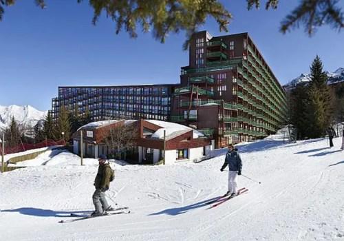 Appartement les Arcs réellement skis aux pieds