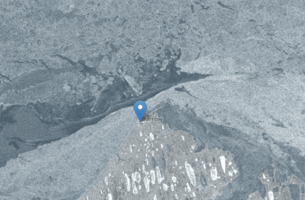 SAR imagery of Alaska's north coast.