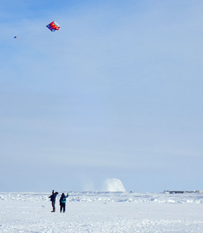 AAOKH is working to get kites into classrooms across the AAOKH network so that students can safely monitor sea ice.