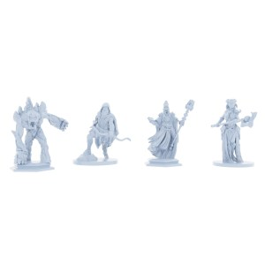 Creatures of Darkness 4 Piece Monster Set (Lich, Stone Golem, Rogue of Darkness, Dryad)