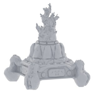 Stone Brazier with Fire 28mm