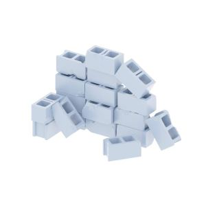 18 Pack Mini Cinder Blocks Set 28mm, Diorama, Crafts