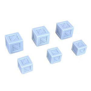 6 Pc Large & Small Crates Miniature Model Set 28mm