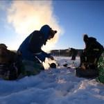 peche sur glace laponie