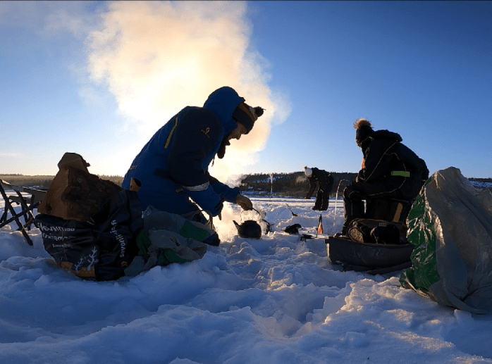 Ice fishing in private rovaniemi