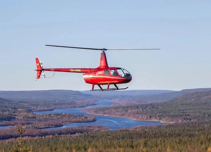 vol hélicoptère laponie