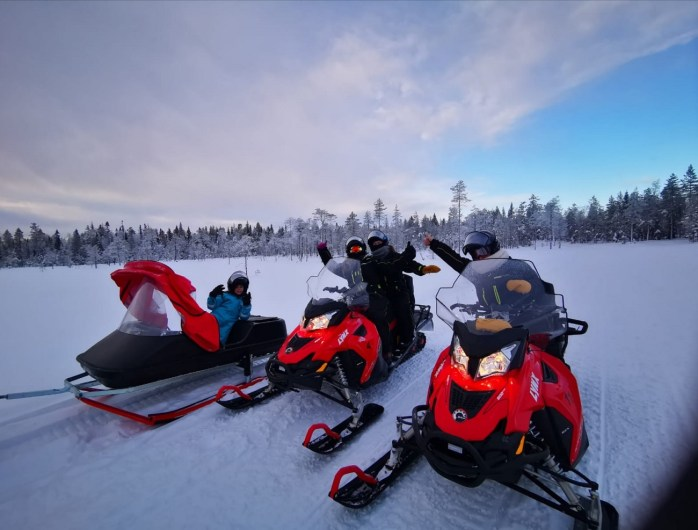 motoneige à Rovaniemi
