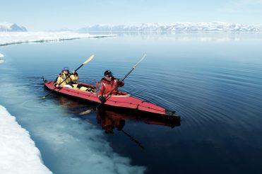 Kayaking at floe edge