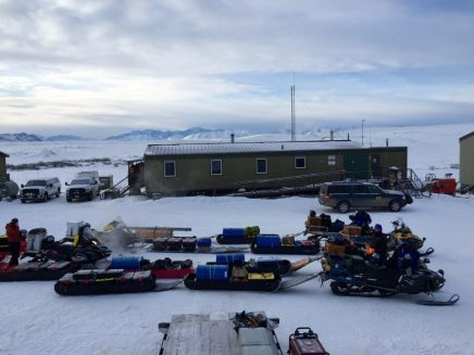 Snowmachine support for arctic research with Arctic River Guides