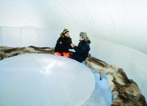 Ice Bar Of Arctic Snowhotel In Rovaniemi Finland