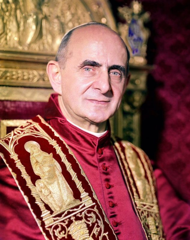 august 6th 40th anniversary of the death of blessed pope paul vi