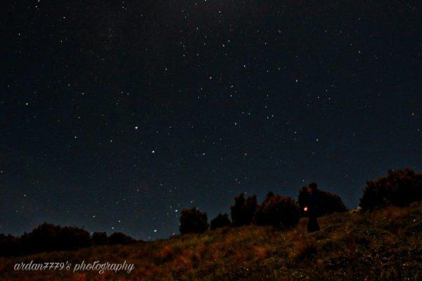 Foto Bintang dan Milkyway