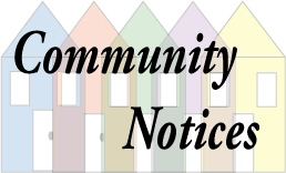 Community Notices, Monday 23rd October, 2017