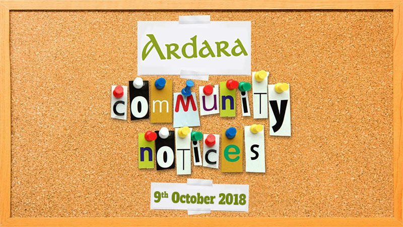 Community Notices 9th October 2018
