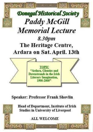 Paddy McGill Memorial Lecture
