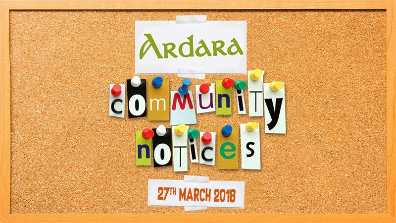 Ardara Community Notices 27th March 2018