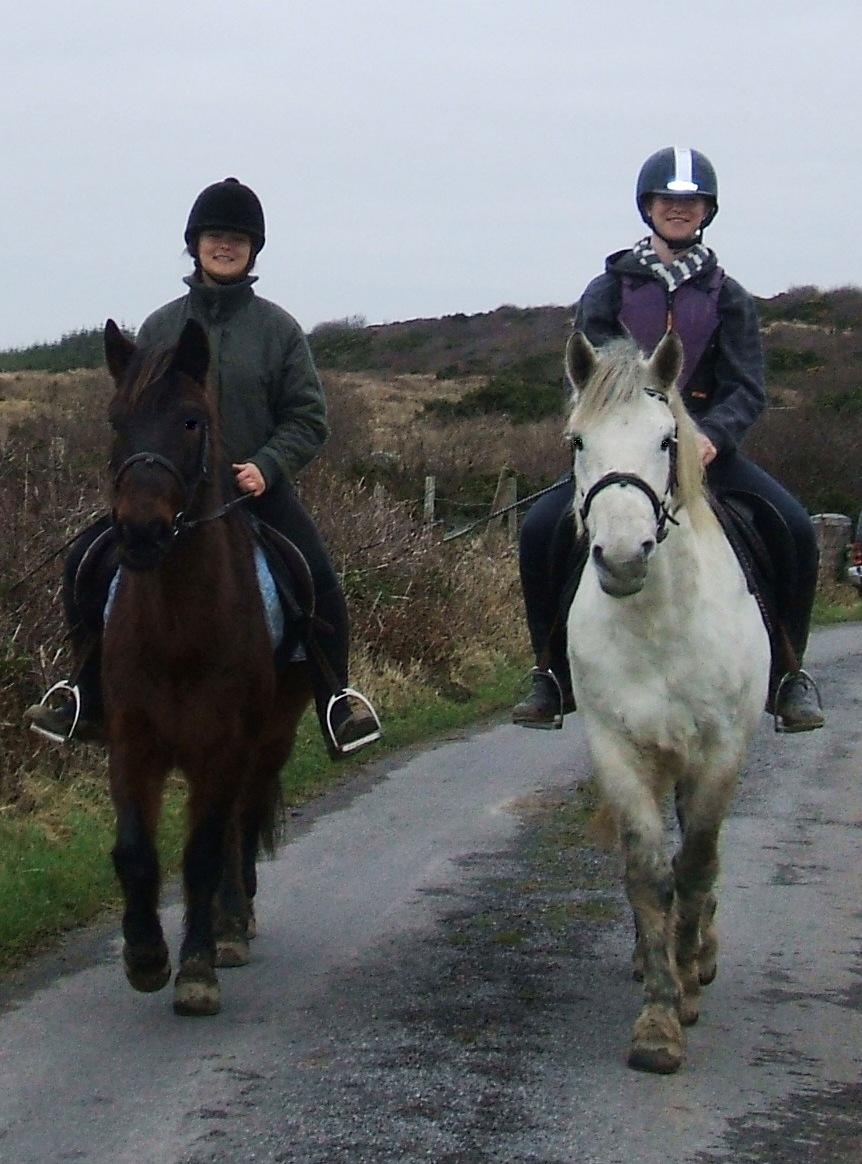 Emma Clancy and daughter Abbey take Hazel and Colonel for a St Stephen's Day outing