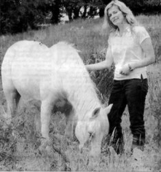Knockdoe Walnut with Cathy Snow Coyne '07. Pic R.Downes
