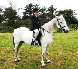 First Rosette, first Show, Elise Galand and Errislannon Charlie