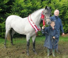 Glencarrig Romeo, Junior Champion with Patrick McGrath and nephew Evan