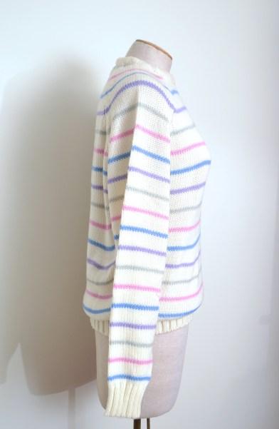 vintage pastel stripe Gitano sweater