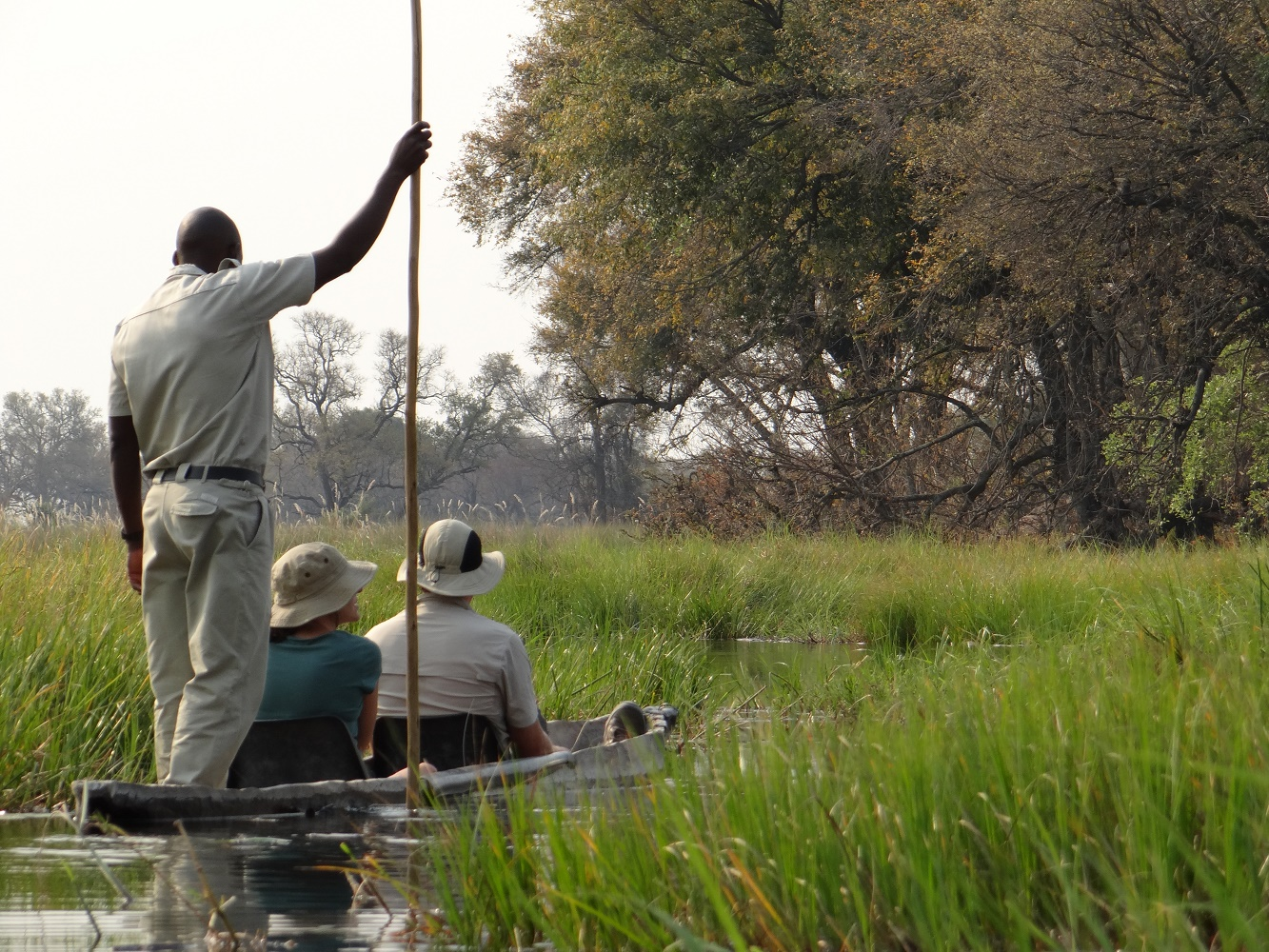 Okavango Delta Botswana Mokoro boat