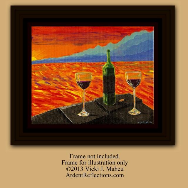 Wine on Sunset Terrace, By V.J. Maheu